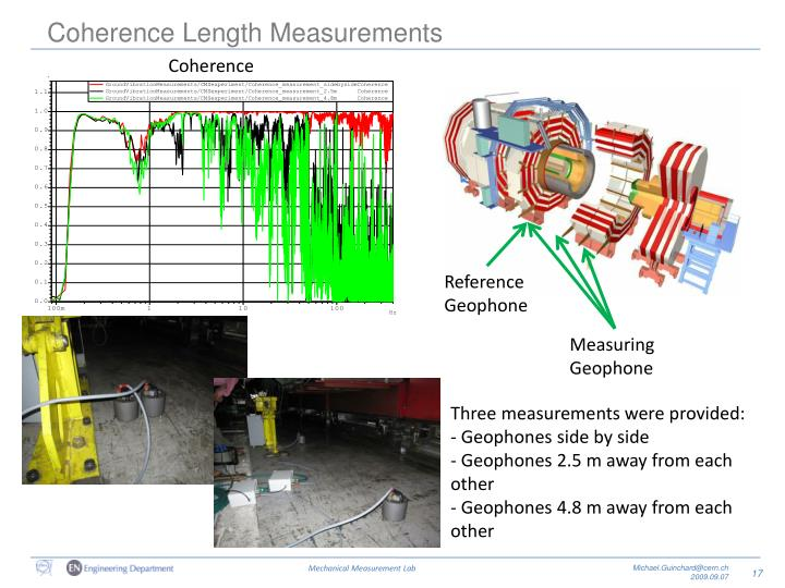 Coherence Length Measurements