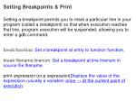setting breakpoints print