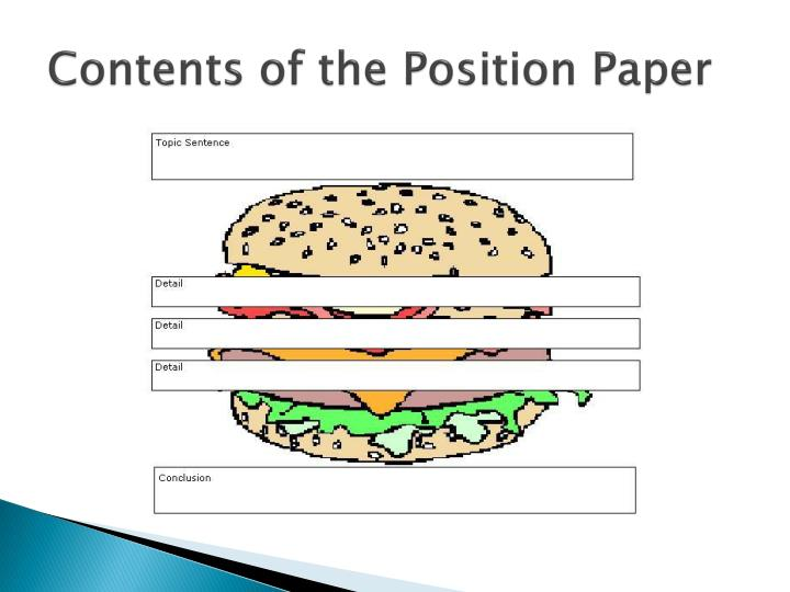 Contents of the Position Paper