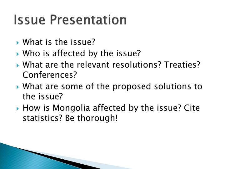 Issue Presentation