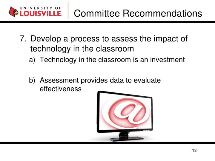 Committee Recommendations