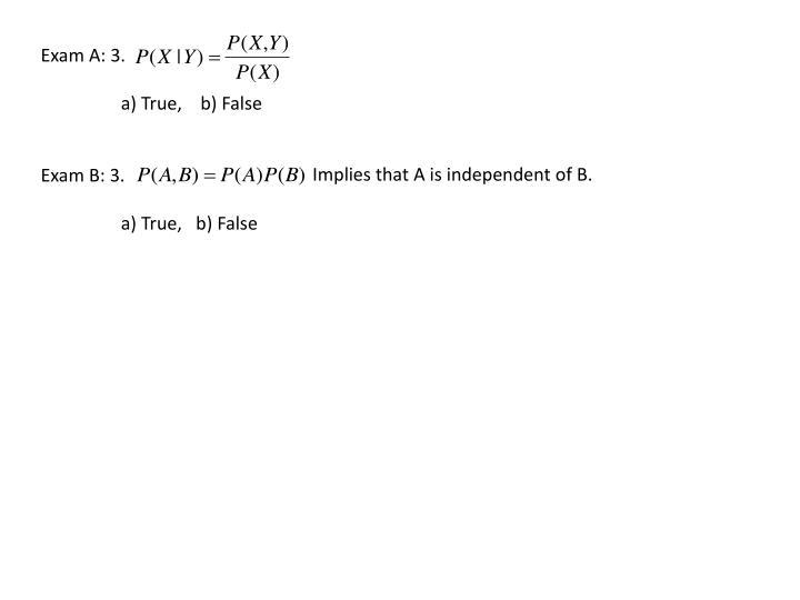 Exam A: