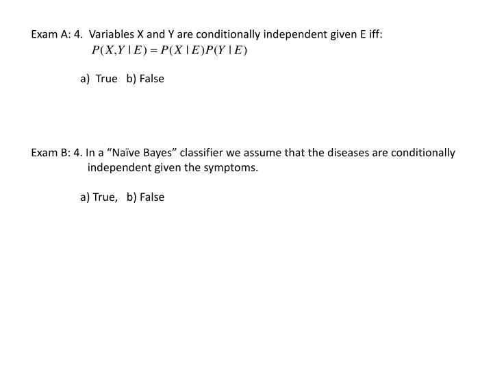 Exam A: 4.