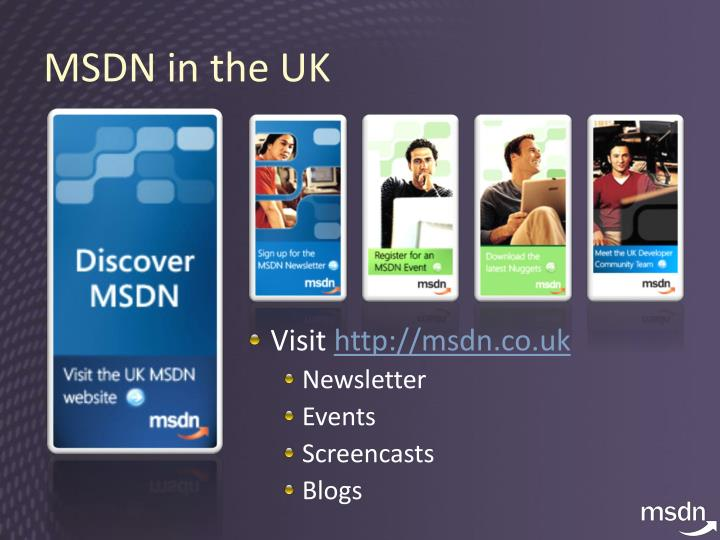 MSDN in the UK