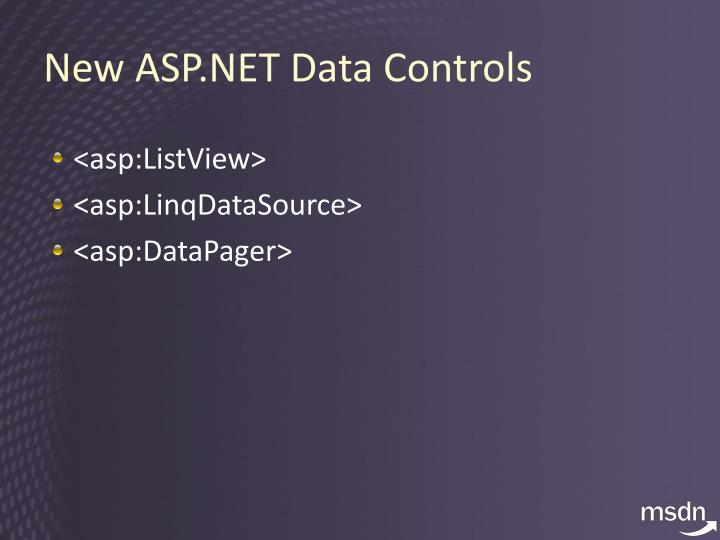 New ASP.NET Data Controls