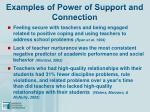 examples of power of support and connection