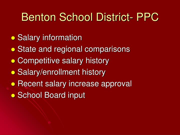 Benton school district ppc