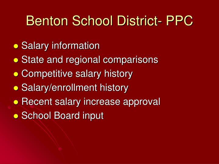 Benton School District- PPC