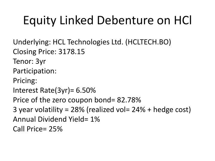 Equity Linked Debenture on
