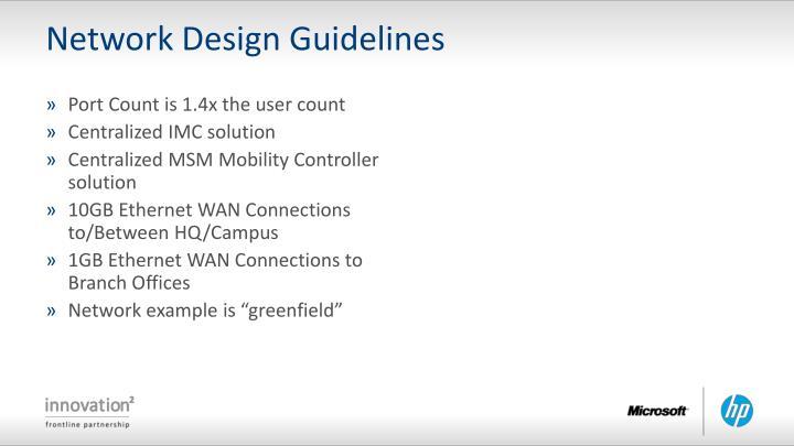 Network Design Guidelines