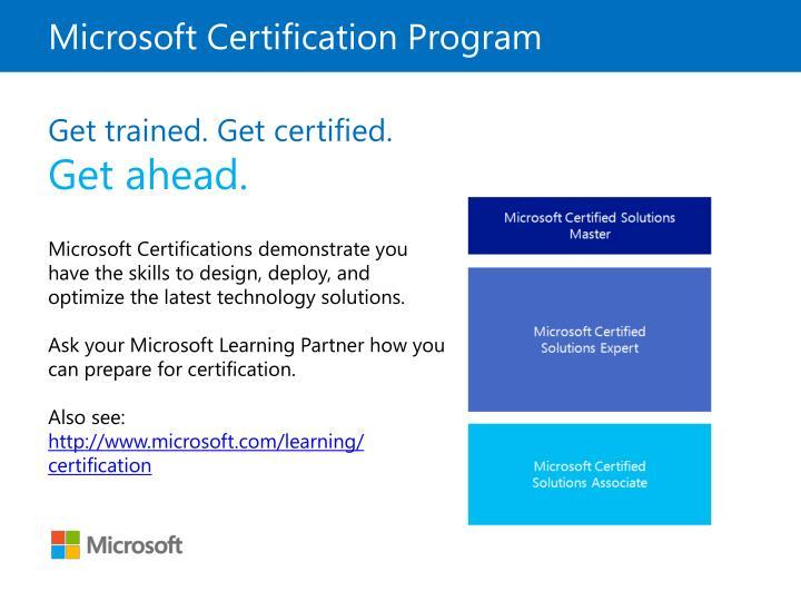 Microsoft Certification Program