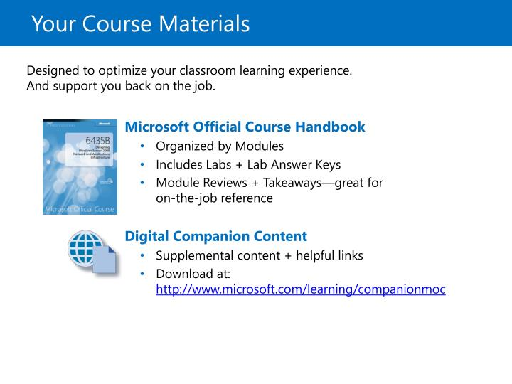 Your Course Materials