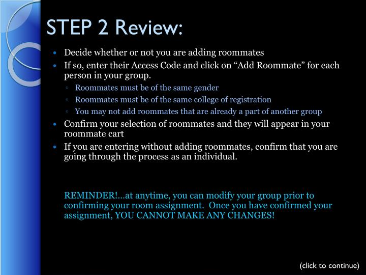 STEP 2 Review: