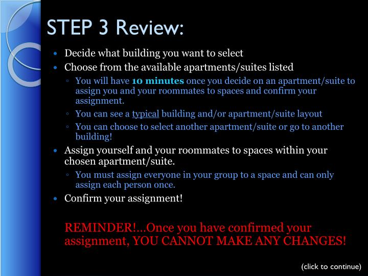 STEP 3 Review: