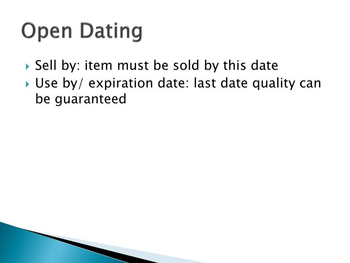 Open Dating