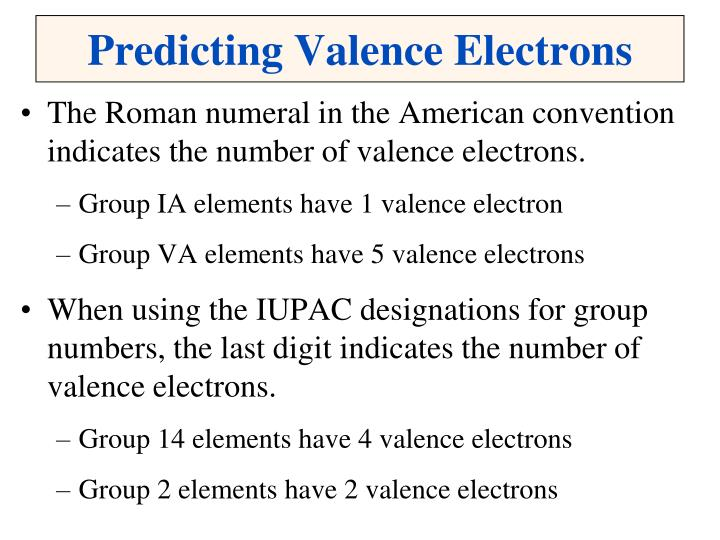 Predicting Valence Electrons