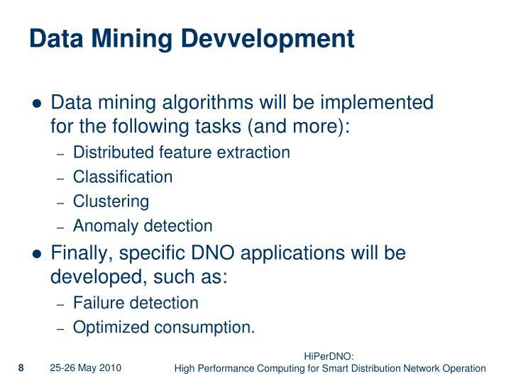 Data Mining Devvelopment