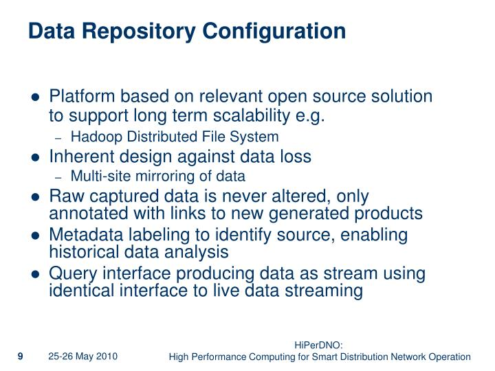 Data Repository Configuration