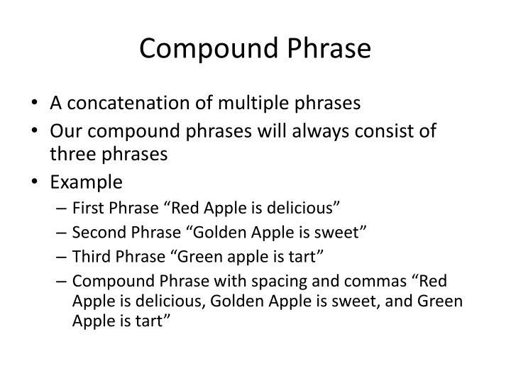 Compound Phrase