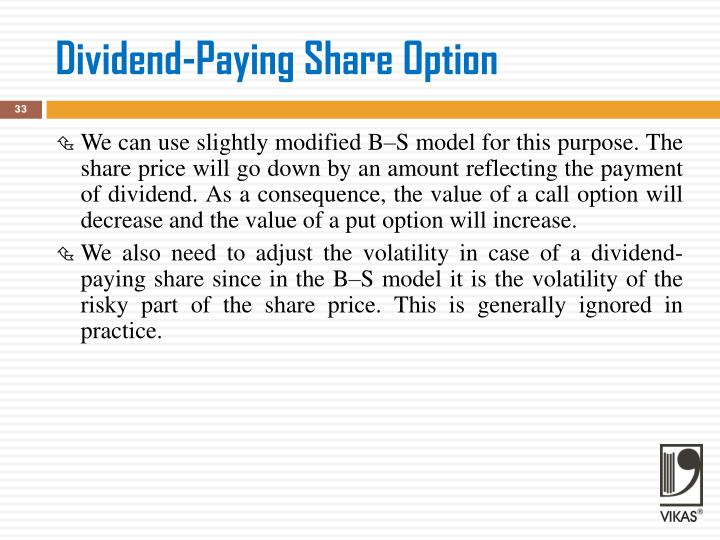 Dividend-Paying Share Option