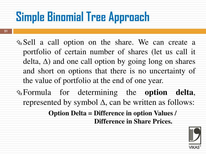 Simple Binomial Tree Approach