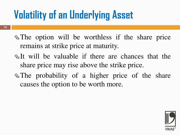 Volatility of an Underlying Asset