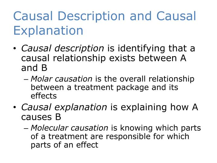 Causal Description and Causal Explanation