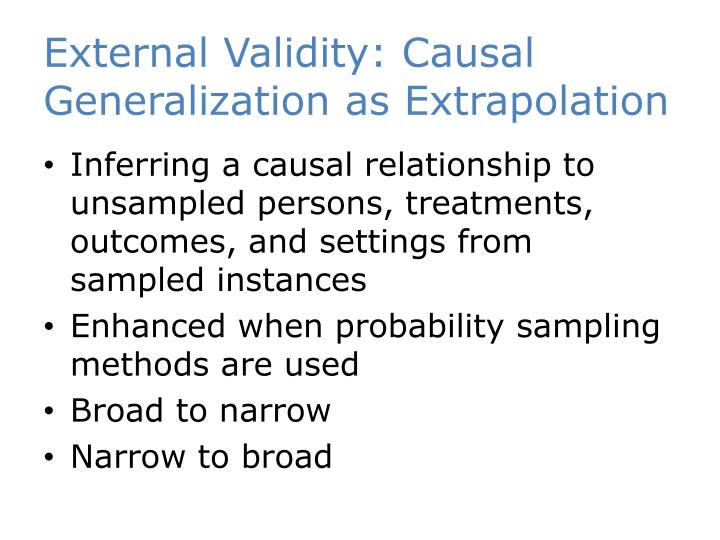 External Validity: Causal Generalization as Extrapolation