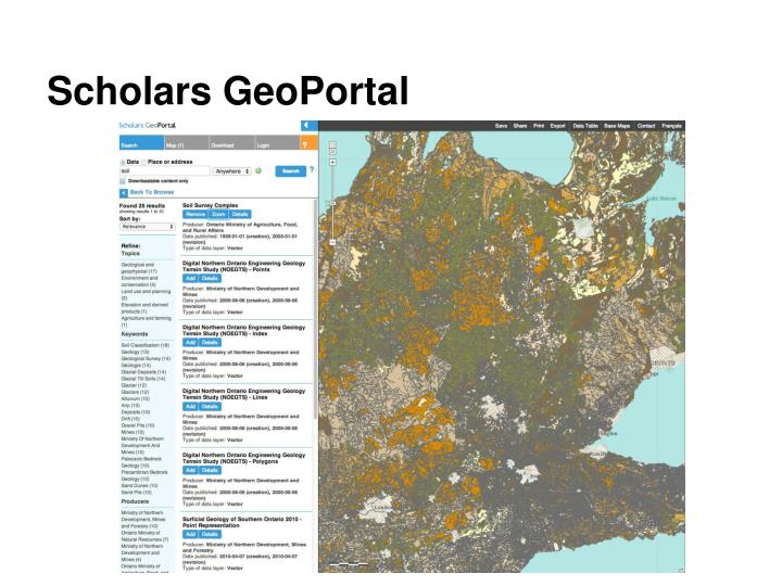 Scholars GeoPortal