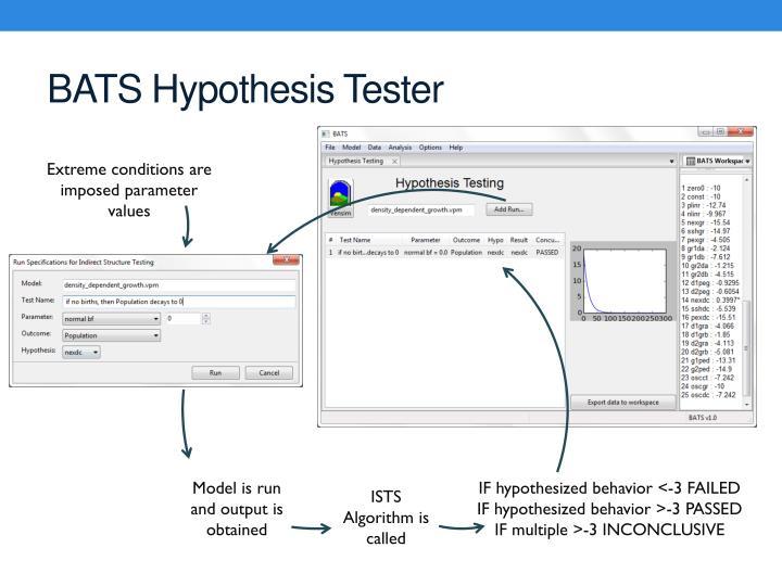 BATS Hypothesis Tester