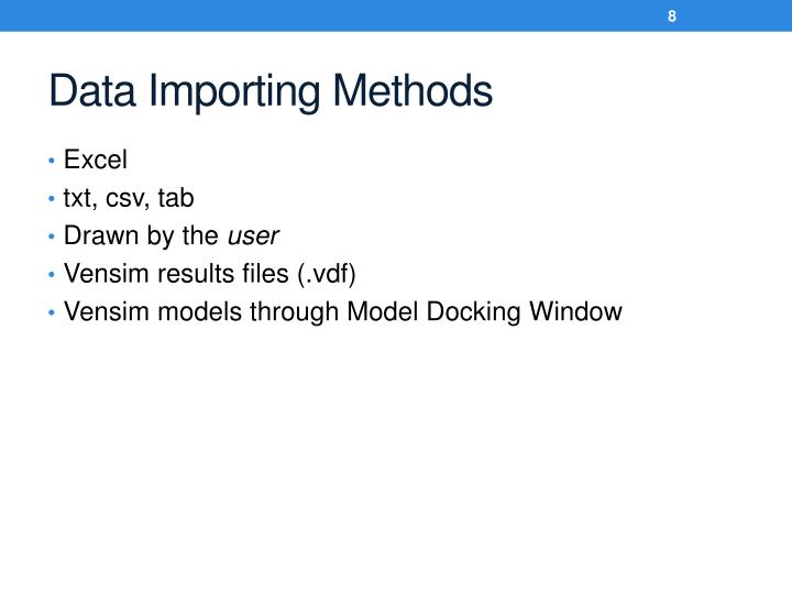 Data Importing Methods