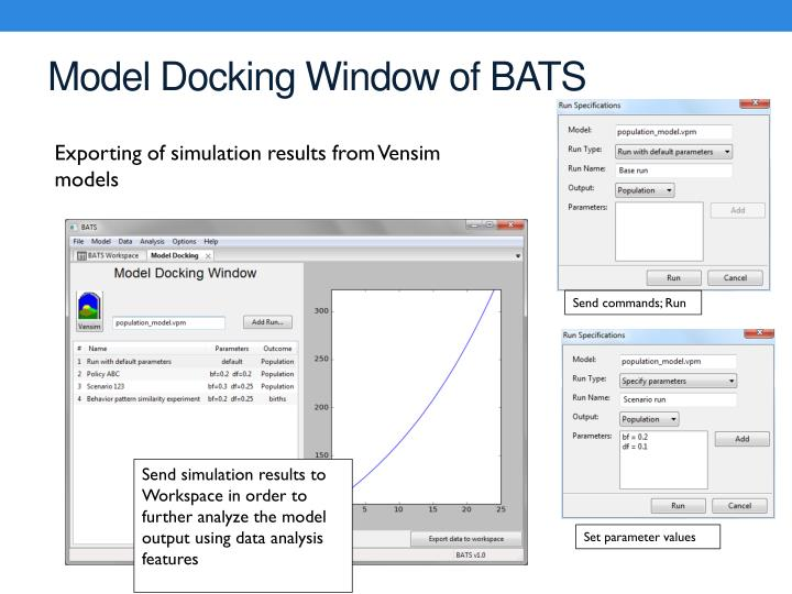 Model Docking Window of BATS