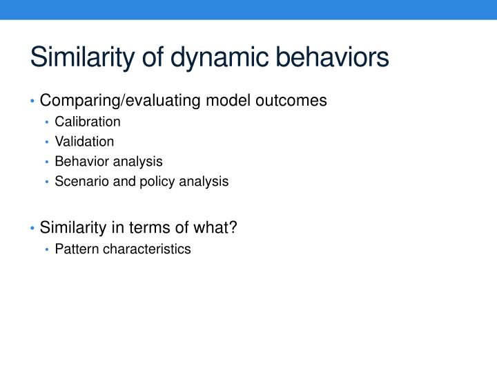 Similarity of dynamic behaviors