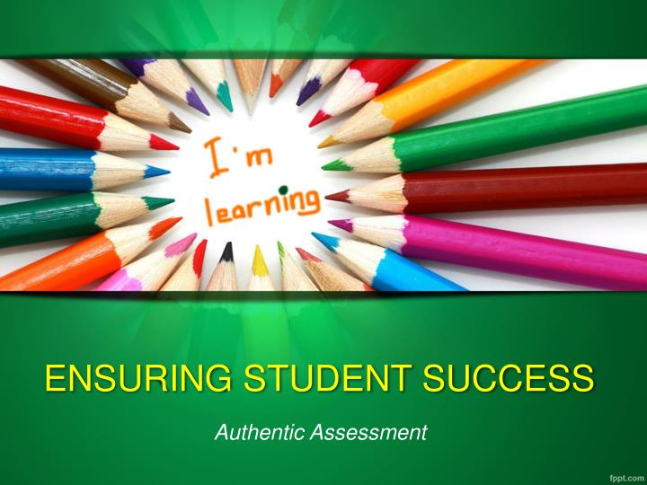 Ensuring student success