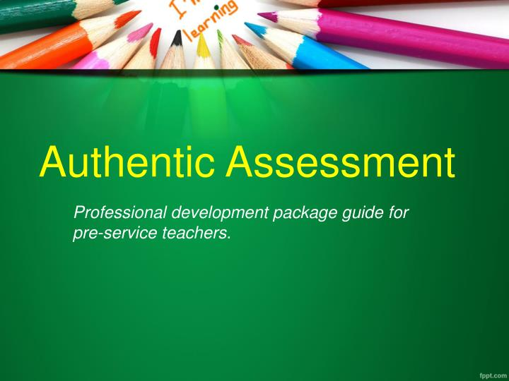 Professional development package guide for pre-service teachers.