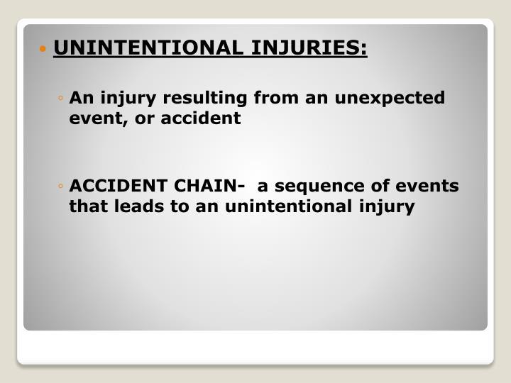 UNINTENTIONAL INJURIES: