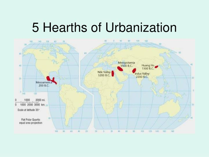 5 Hearths of Urbanization