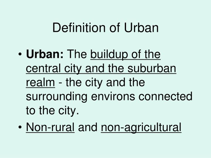 Definition of Urban