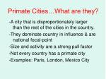 primate cities what are they