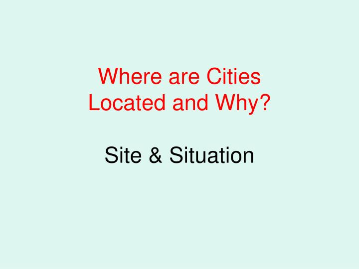 Where are Cities
