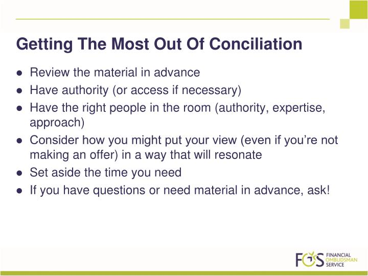 Getting The Most Out Of Conciliation