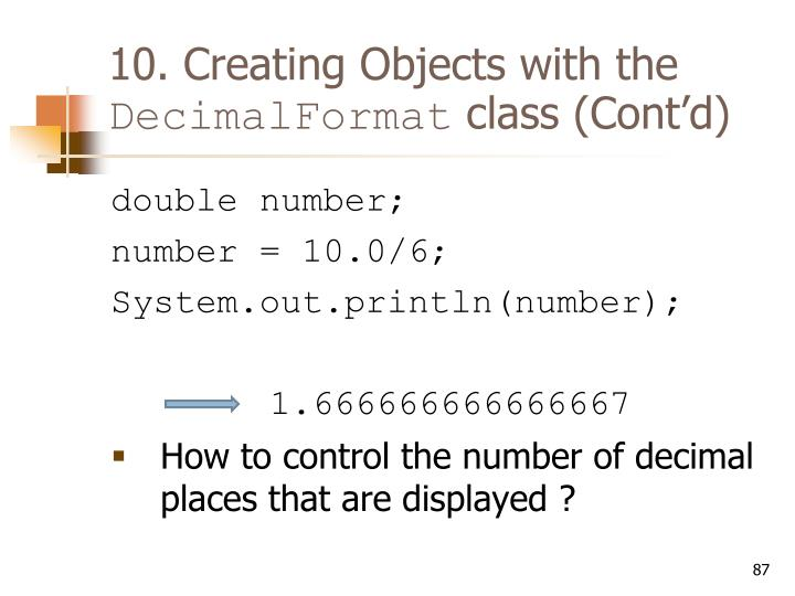 10. Creating Objects with the