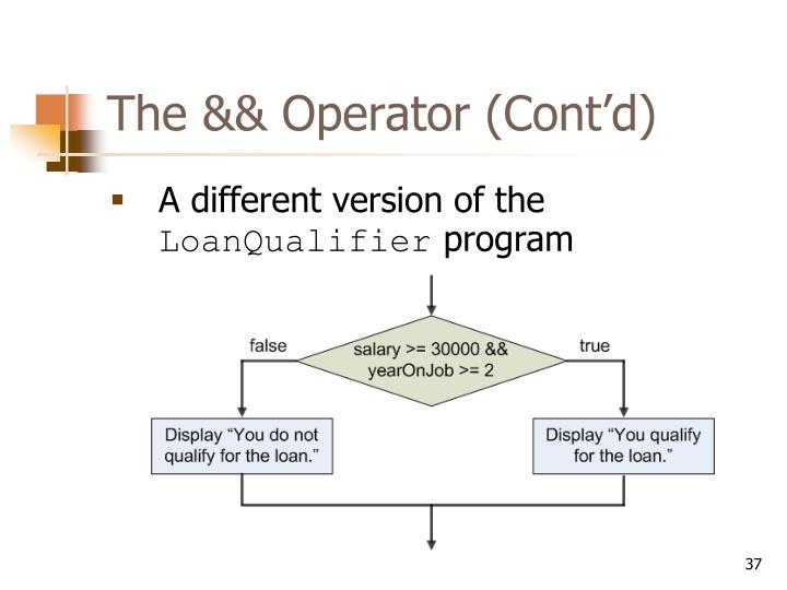 The && Operator (Cont'd)