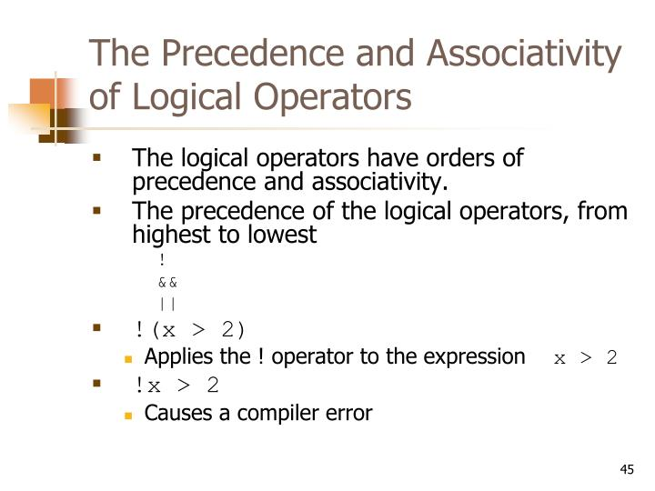 The Precedence and