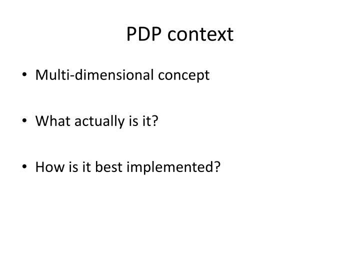 PDP context