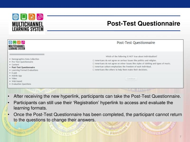 Post-Test Questionnaire