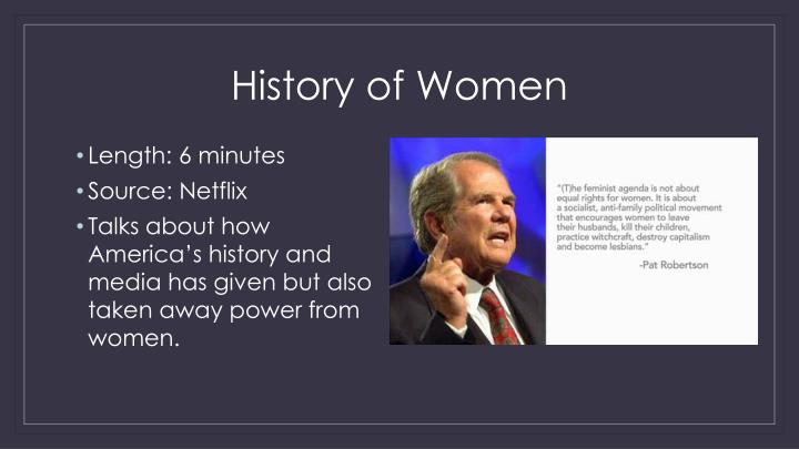 History of Women