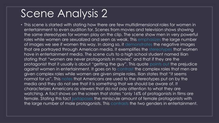 Scene Analysis 2