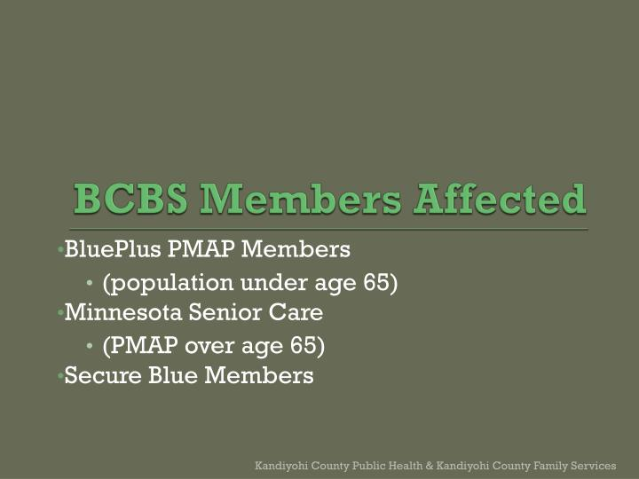 Bcbs members affected