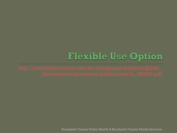 Flexible Use Option